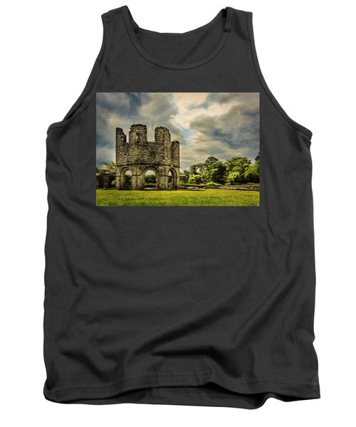 Tank Top featuring the painting Ruins Of Mellifont Abbey by Jeff Kolker