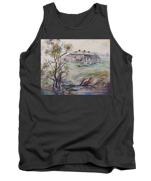 Tank Top featuring the painting  Ruins Of Squatter's Arms Inn, Cookardinia. 2 Of Pair. by Ryn Shell