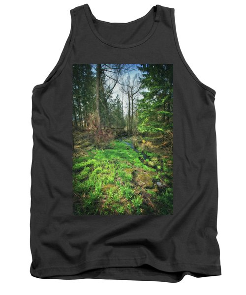 Running Creek In Woods - Spring At Retzer Nature Center Tank Top by Jennifer Rondinelli Reilly - Fine Art Photography