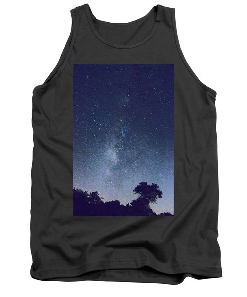 Running Dog Tree And Galaxy Tank Top