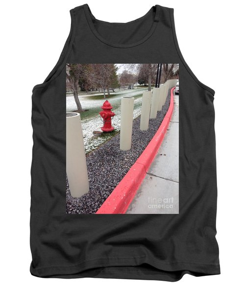 Tank Top featuring the photograph Running The Gauntlet by Richard W Linford