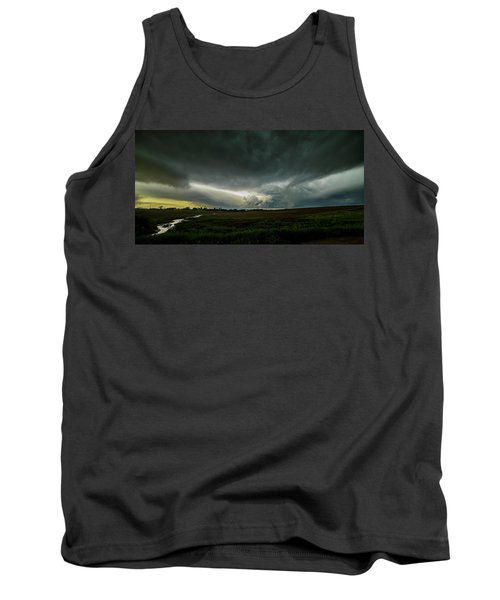 Rural Spring Storm Over Chester Nebraska Tank Top