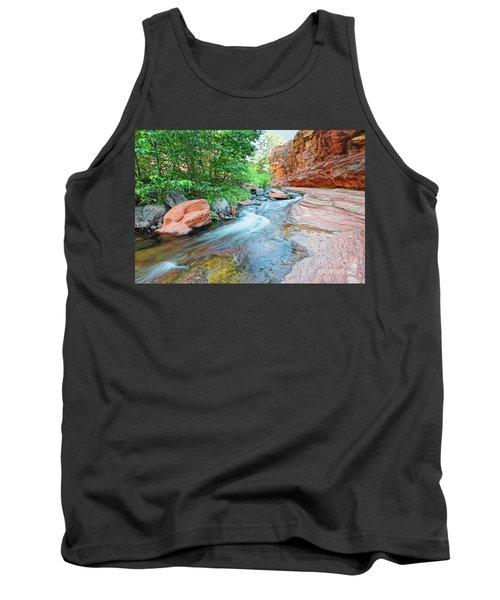 Rushing Waters At Slide Rock State Park Oak Creek State Park - Sedona Northern Arizona Tank Top