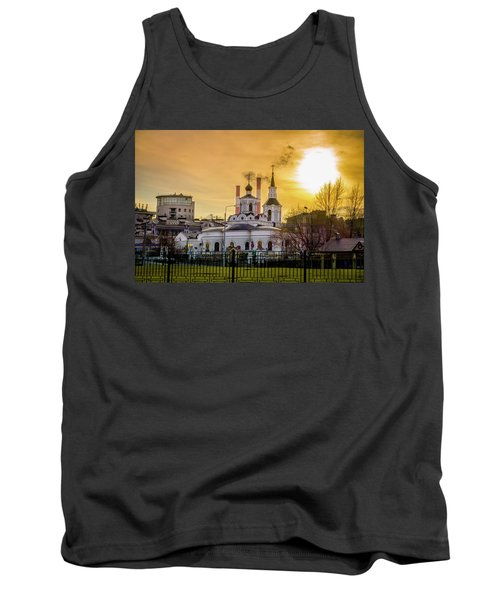 Tank Top featuring the photograph Russian Ortodox Church In Moscow, Russia by Alexey Stiop