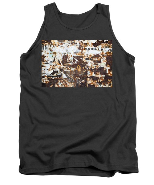 Tank Top featuring the photograph Rust And Torn Paper Posters by John Williams