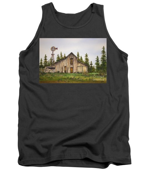 Tank Top featuring the painting Rustic Barn by James Williamson
