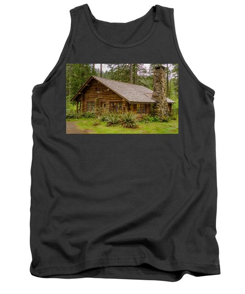 Tank Top featuring the photograph Rustic Cabin by Jerry Cahill