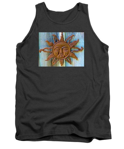 Rustic Sunface Tank Top