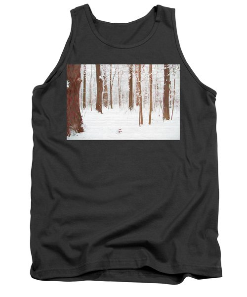 Rustic Winter Forest Tank Top by Dan Sproul