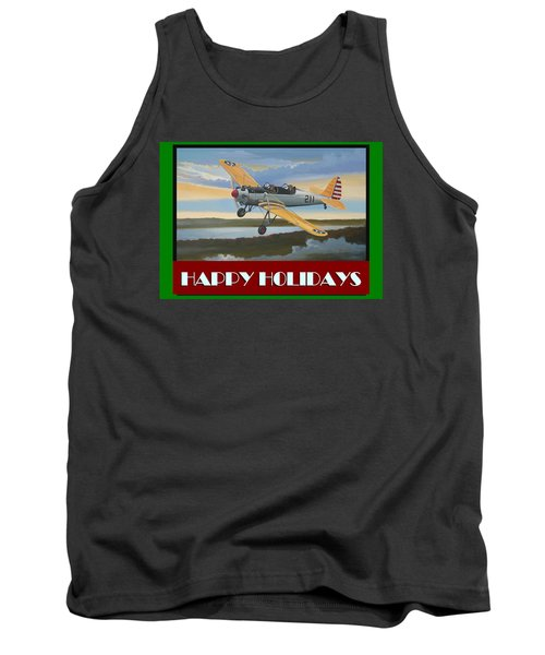 Tank Top featuring the digital art Ryan Pt-22 Happy Holidays by Stuart Swartz