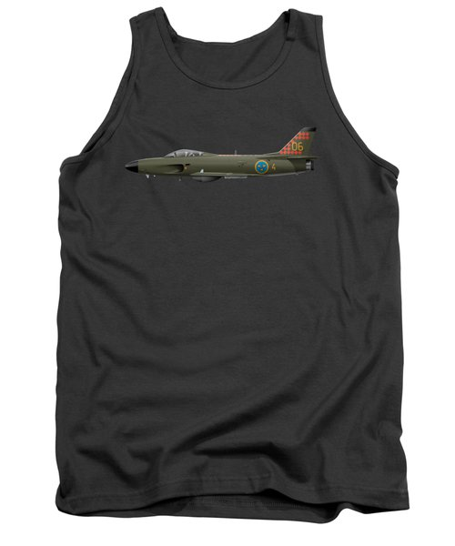 Saab J32d Lansen - 32606 - Side Profile View Tank Top