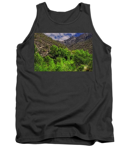 Tank Top featuring the photograph Sabino Canyon H33 by Mark Myhaver