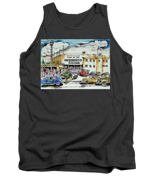 Tank Top featuring the painting Sacramento Solons by Terry Banderas