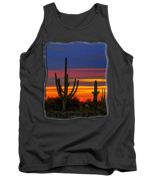 Saguaro Sunset V31 Tank Top by Mark Myhaver