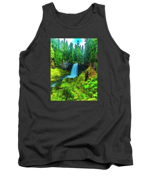 Koosa Falls, Oregon Tank Top by Nancy Marie Ricketts