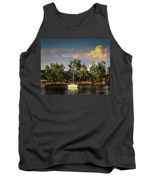 Sailboat In The Bay Tank Top