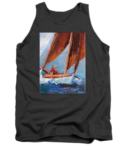 Sailboat Therapy Tank Top by Trina Teele