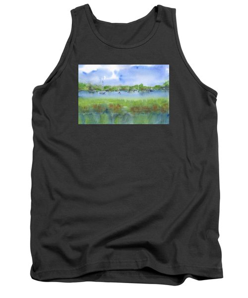 Sailboats At Beaufort Tank Top by Frank Bright