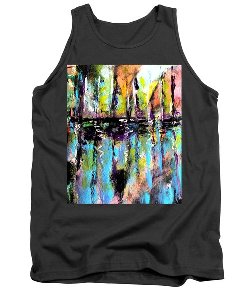 Sailboats At Sunset Tank Top