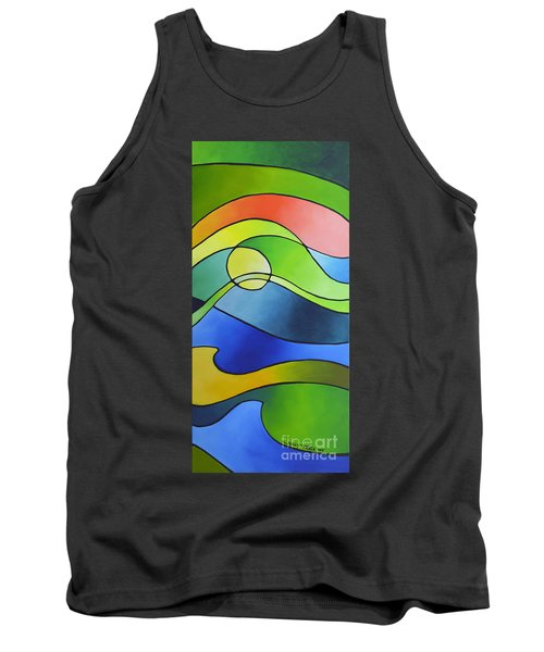 Sailing Away, Canvas Three Tank Top