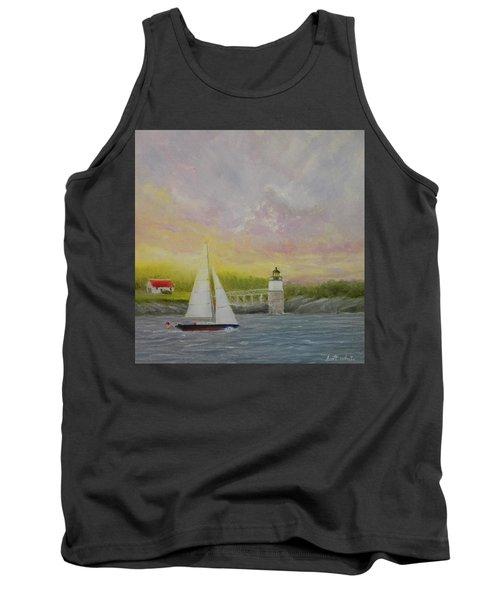 Sailing By Ram Island Tank Top