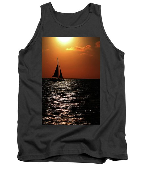 Sailing Into The Sunset Tank Top
