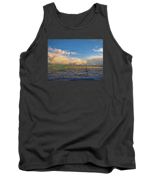 Sailing On Galilee Tank Top by Dave Luebbert