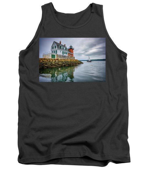 Tank Top featuring the photograph Sailing Past The Breakwater by Rick Berk