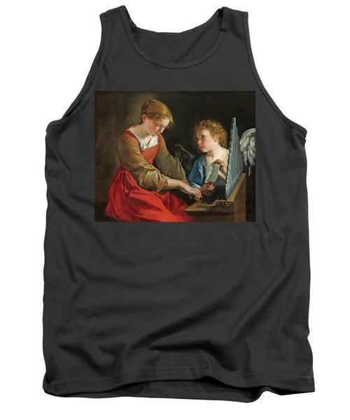 Saint Cecilia And An Angel Tank Top