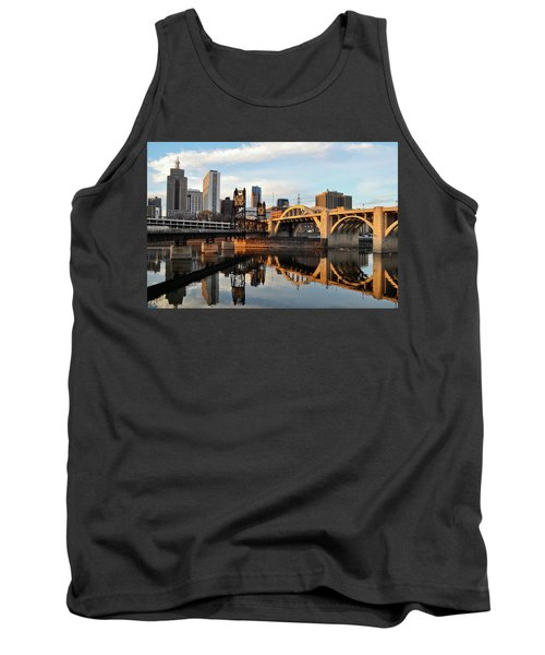Tank Top featuring the photograph Saint Paul Mississippi River Sunset by Kyle Hanson