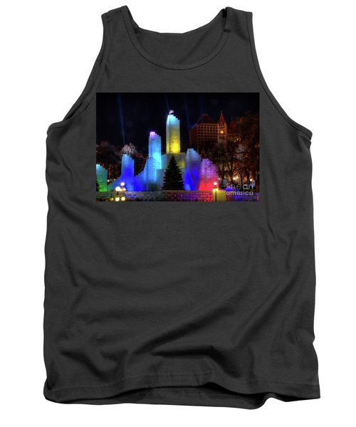 Saint Paul Winter Carnival Ice Palace 2018 Lighting Up The Town Tank Top