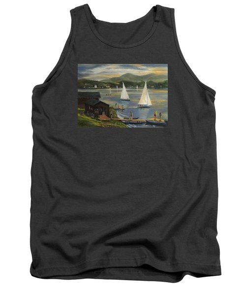 Sailing At Lake Morey Vermont Tank Top by Nancy Griswold