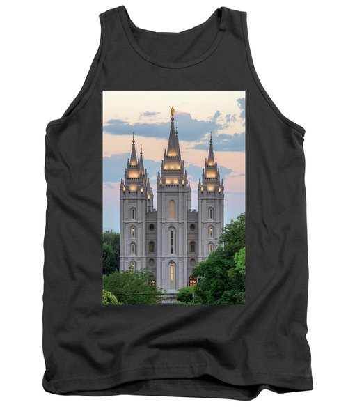 Tank Top featuring the photograph Salt Lake City Temple Morning by Dustin  LeFevre