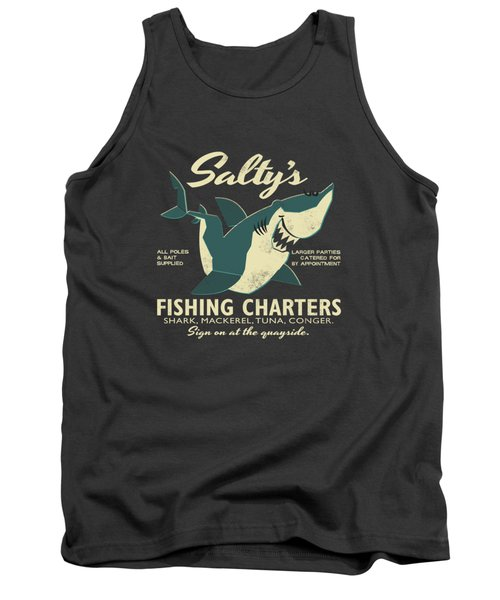 Salty's Fishing Charters Tank Top