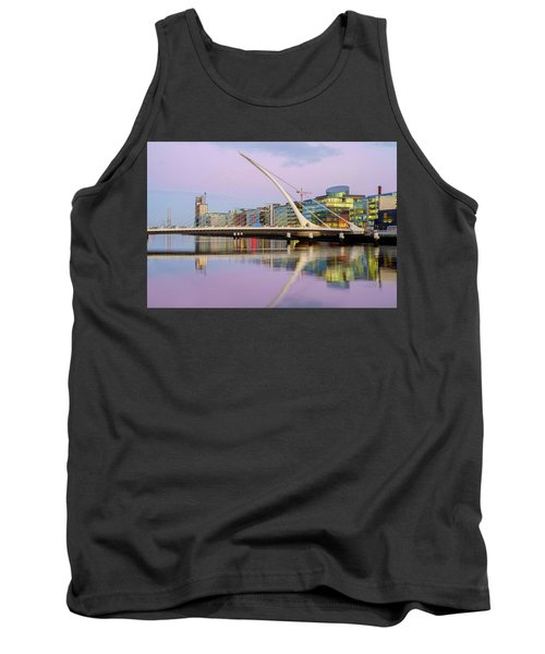 Samuel Beckett Bridge At Dusk Tank Top