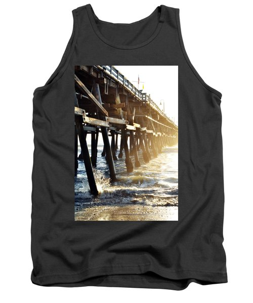 Tank Top featuring the photograph San Clemente Pier Magic Hour by Kyle Hanson