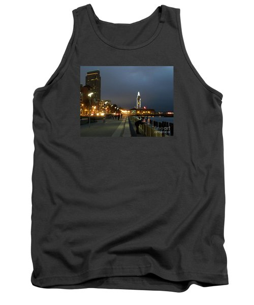 Tank Top featuring the photograph San Francisco Bay At Night by Haleh Mahbod