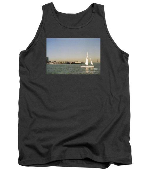 San Francisco Bay Sail Boat Tank Top