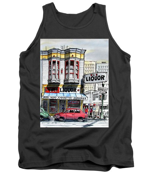 Tank Top featuring the painting San Francisco Street Corner by Terry Banderas