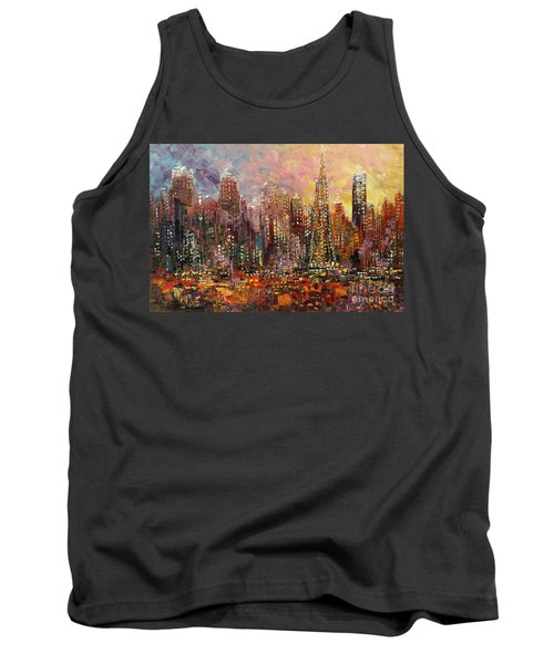 Tank Top featuring the painting San Francisco by Tatiana Iliina