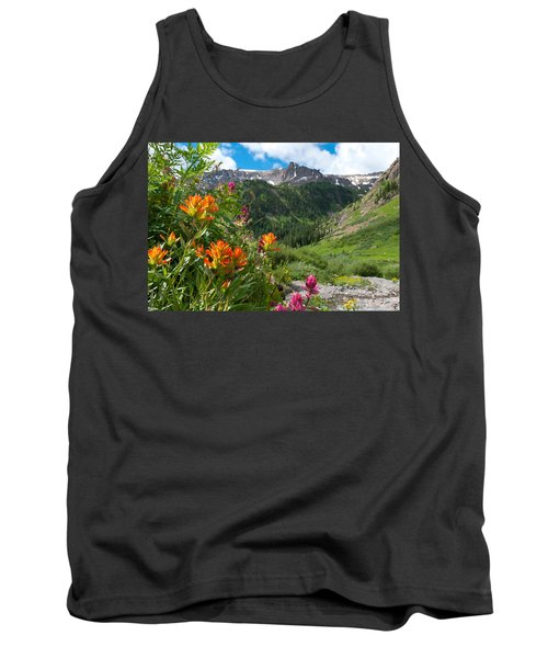 San Juans Indian Paintbrush Landscape Tank Top