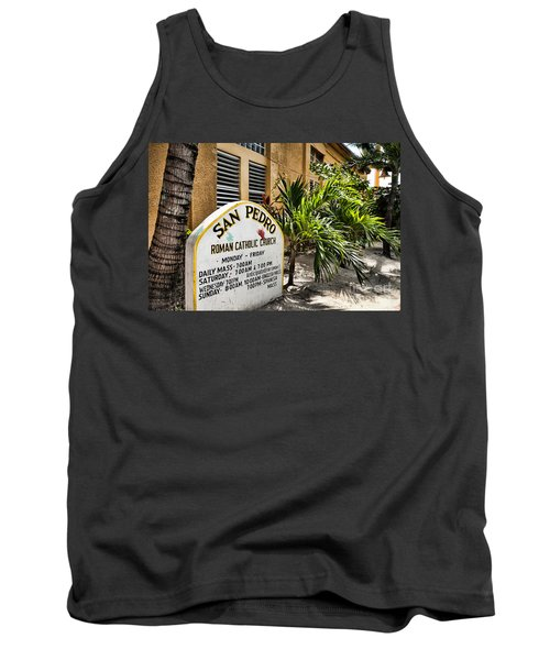 Tank Top featuring the photograph San Pedro Roman Catholic Church by Lawrence Burry