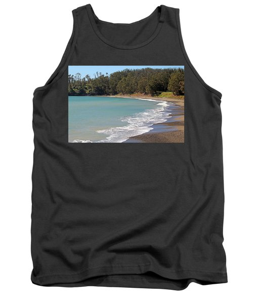Tank Top featuring the photograph San Simeon Cove by Art Block Collections