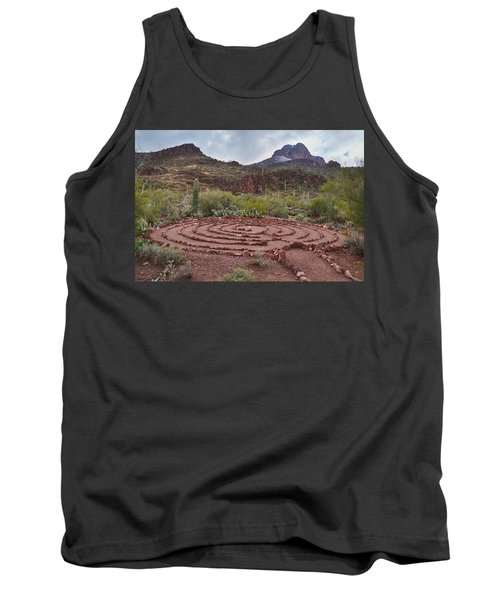 Sanctuary Cove Labyrinth Tank Top by Donna Greene