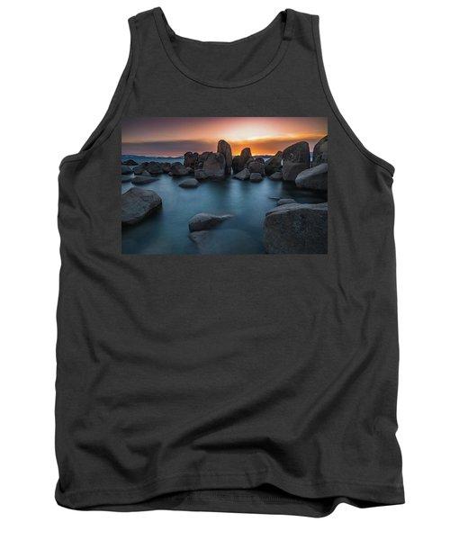 Sand Harbor Sunset Tank Top