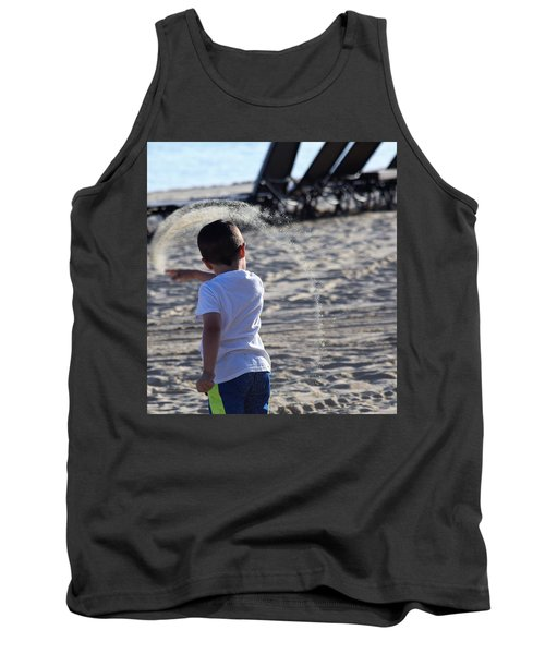 Sand Rainbow Tank Top by John Glass