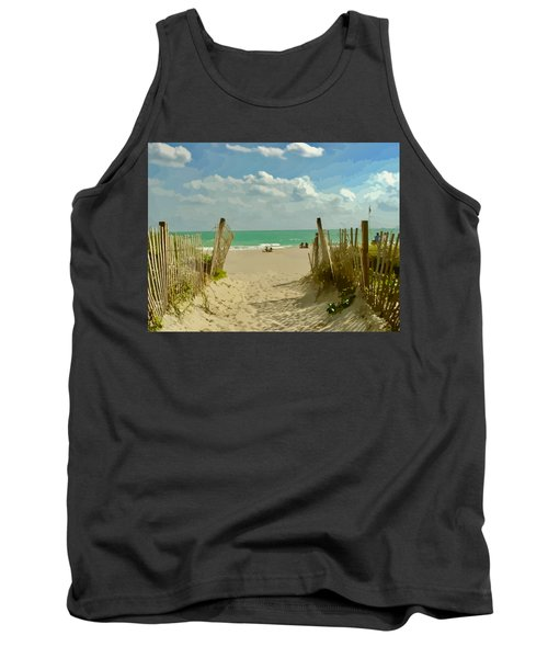Sand Track To The Beach Tank Top