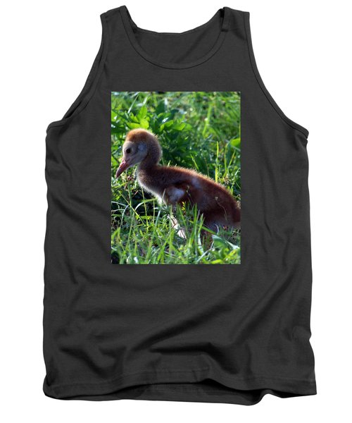Tank Top featuring the photograph Sandhill Crane Chick 087  by Chris Mercer