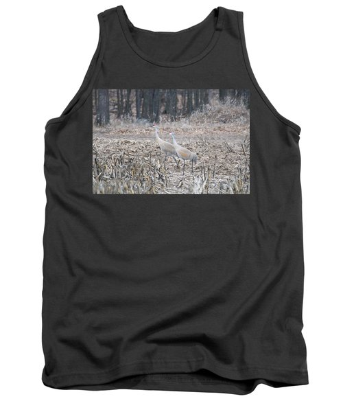 Tank Top featuring the photograph Sandhill Cranes 1171 by Michael Peychich