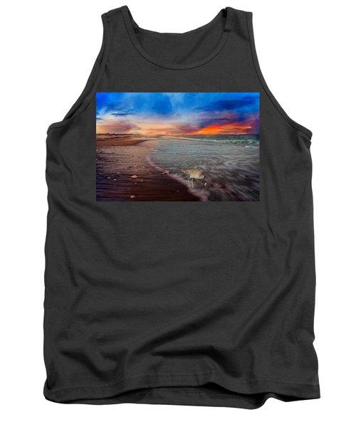 Sandpiper Sunrise Tank Top by Betsy Knapp